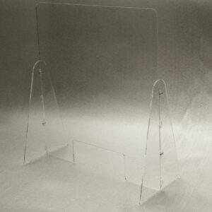 Barriera parafiato in plexiglass trasparente con sistema ad incastro