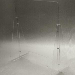 Schermo parafiato in plexiglass trasparente con viti in acciaio