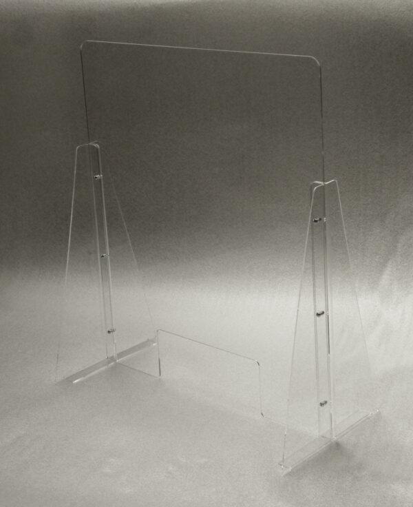 schermo di protezione parafiato in plexiglass trasparente